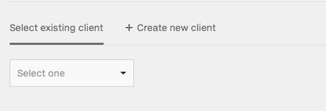 invoice.select client